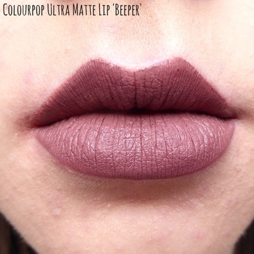 Colourpop Ultra Matte Lip in Beeper | abibailey.co.uk
