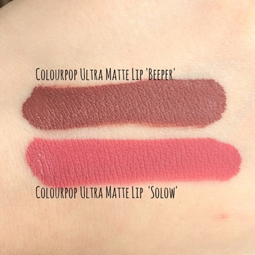 Colourpop Ultra Matte Lip in Beeper and Solow | abibailey.co.uk